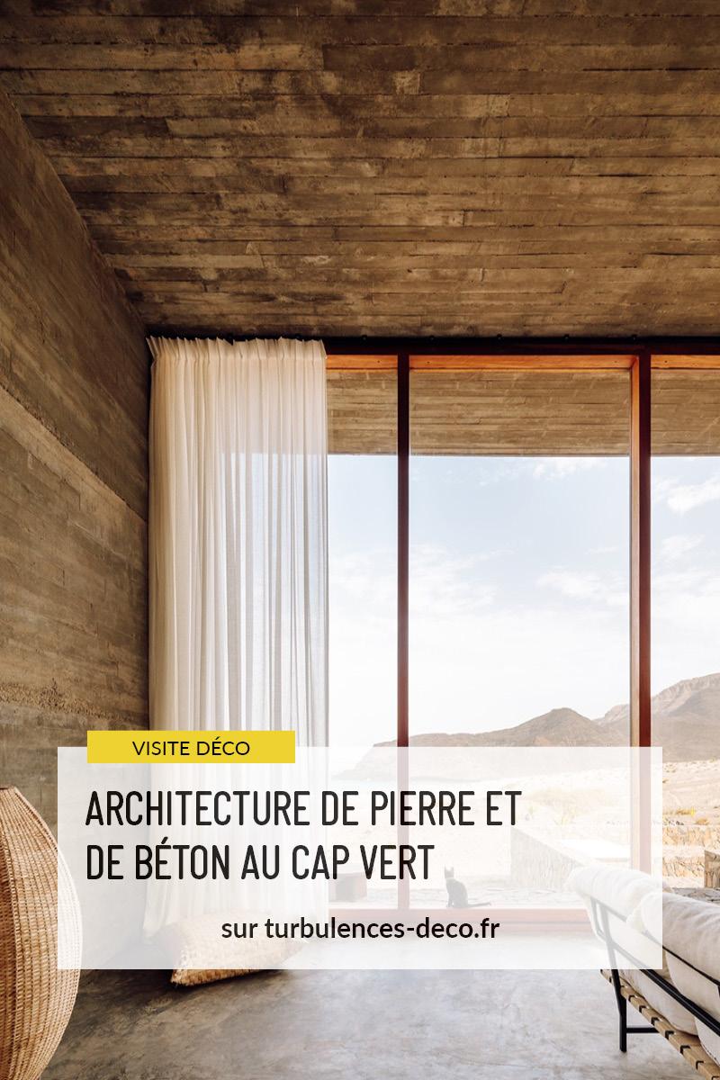 Architecture de pierre et de béton au Cap-Vert // Complexe immobilier et touristique Barefoot Villas par Polo Architects & Going East à retrouver sur Turbulences Déco