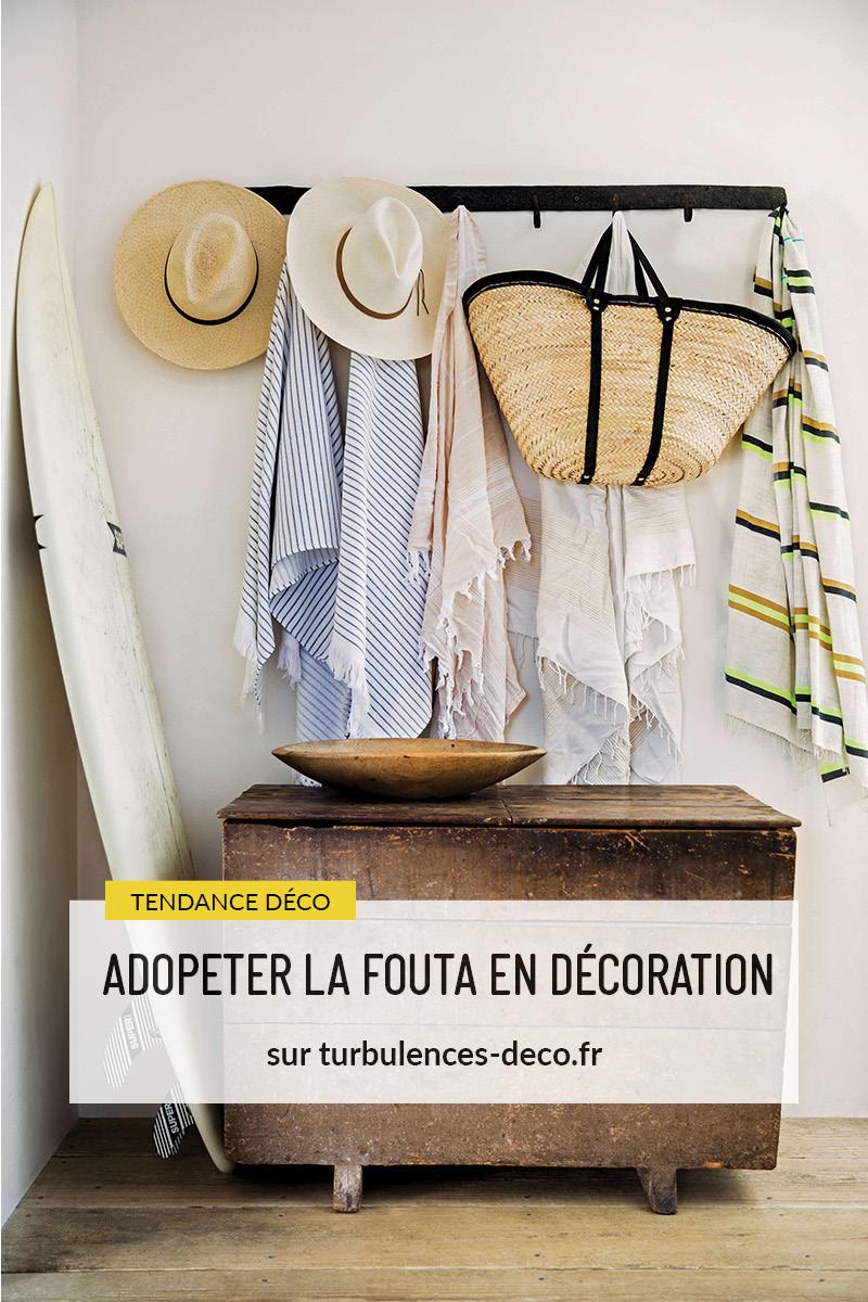Adopter la fouta en décoration, idées de détournement de ce textile traditionnel du Maghreb à retrouver sur Turbulences Déco