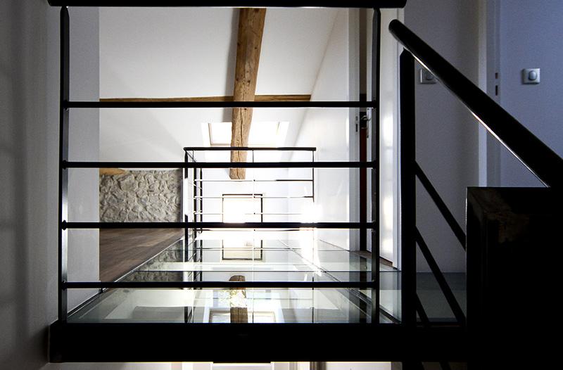 Richard Vieux - Projet La maison Art Déco // Rénovation d'un palier pour apporter de la lumière