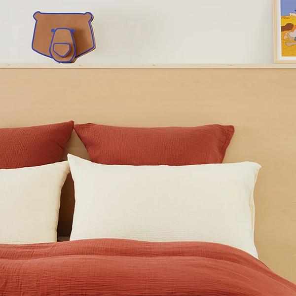 Parure de lit en gaze de coton Tediber