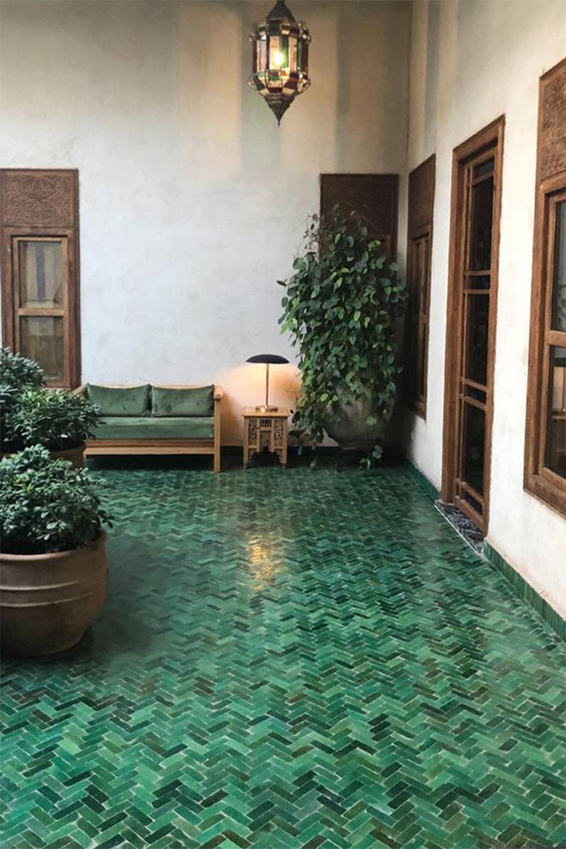 Des zelliges verts dans sa déco // El Fenn à Marrakech