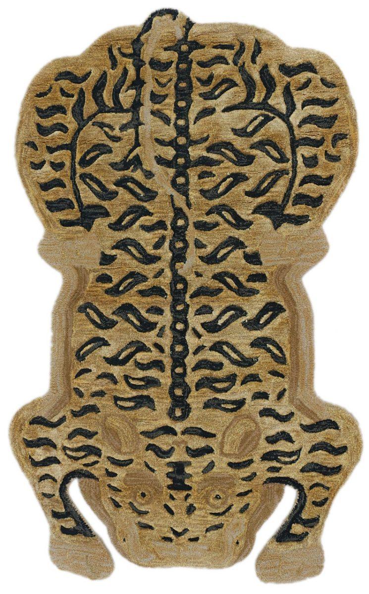 Tapis en laine noué à la main, vintage, représentant un chat tibétain, 157,44 €, sur la boutique Etsy Isla Design Vintage