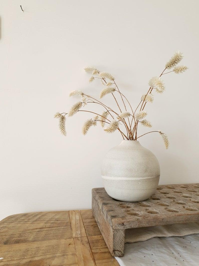 Vase en céramique de bourgeon, forme de bouteille, 73,16 € sur la boutique Etsy Ronit Yam Pottery