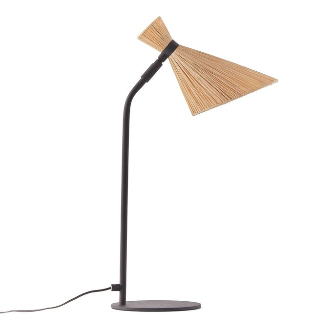Lampe led, en métal et raphia, Rosa - La Redoute Intérieurs