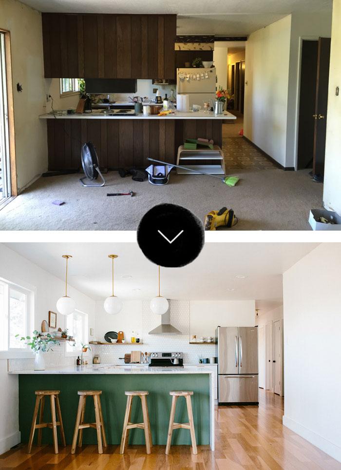 Quel rapport les Français ont avec la rénovation de leur logement ? // Cuisaine avant -après rénovation
