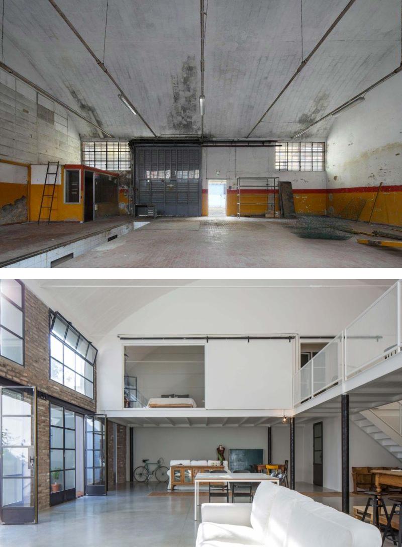 Quel rapport les Français ont avec la rénovation de leur logement ? // Loft avant après réhabilitation // Architectes : Sara Bergami et Luca Bertacchi