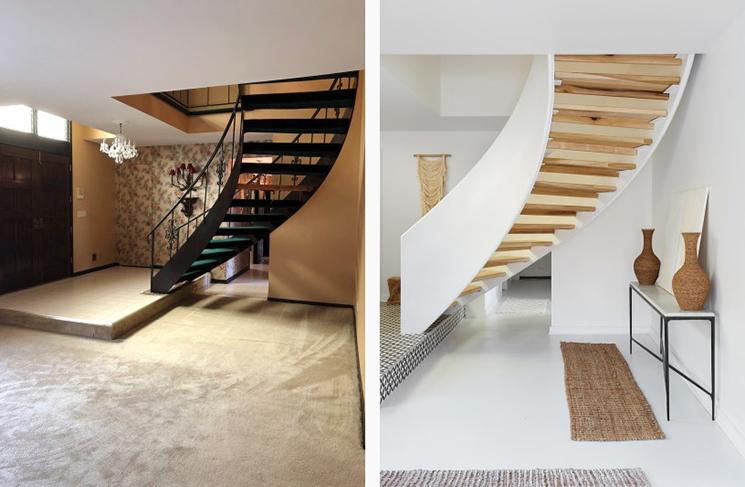 Quel rapport les Français ont avec la rénovation de leur logement ? // Escalier avant -après rafraîchissement // Leanne Ford design