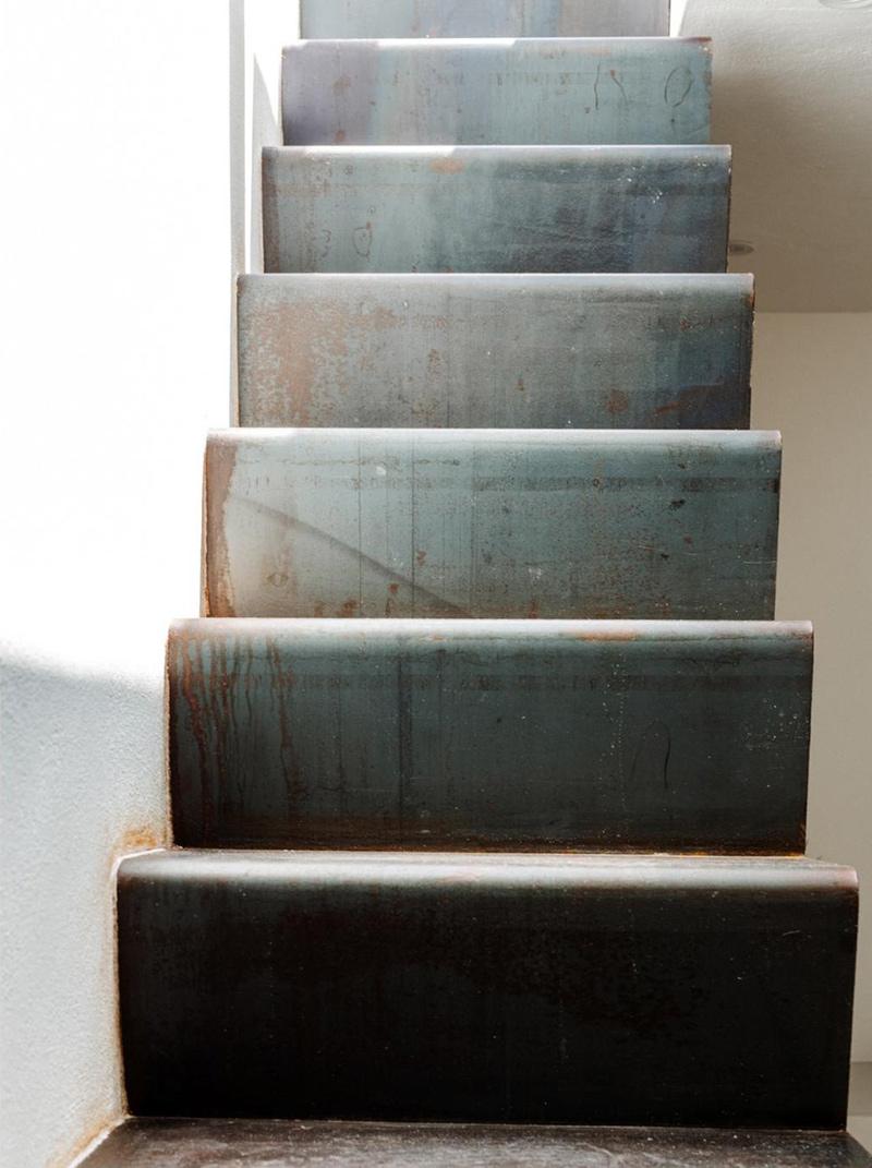 Un petit duplex à Ibiza à acheter... Escalier en acier plié