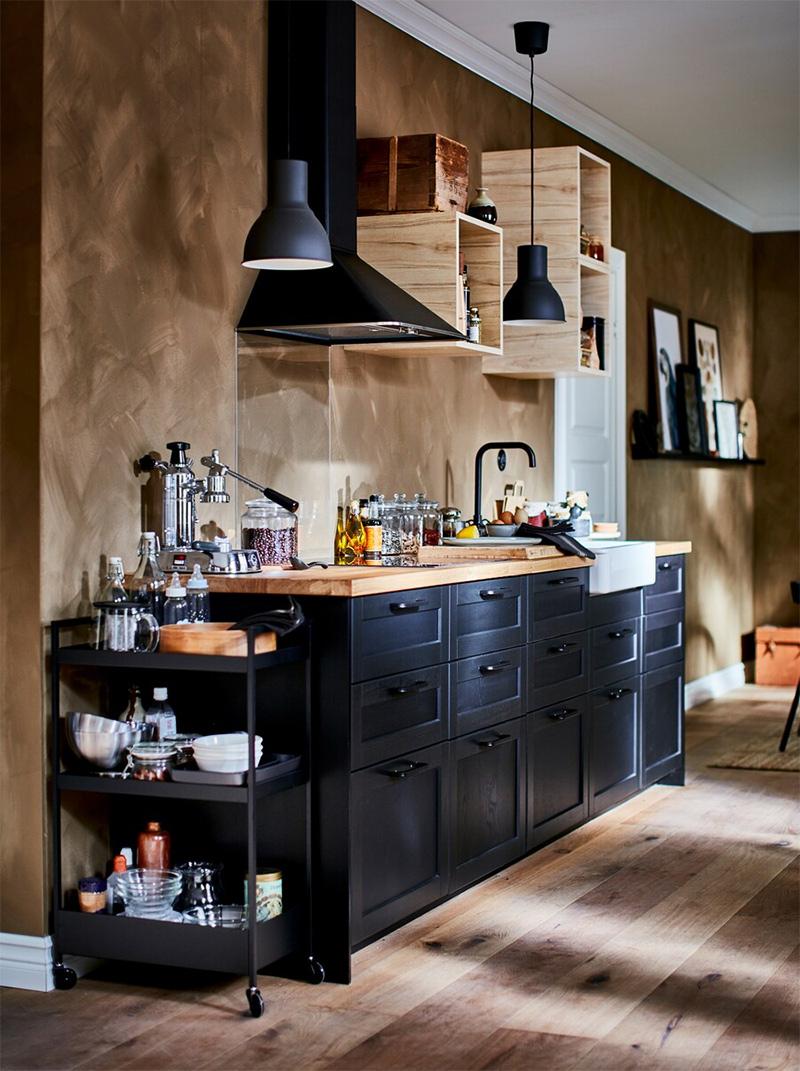 Relooking d'une pièce à vivre par les styliste d'Ikea.