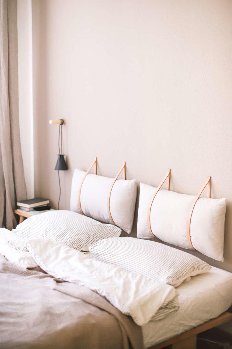"""DIY têtes de lit """"coussin"""", sympas pour individualiser deux couchages"""