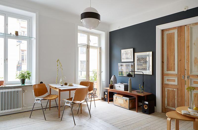 Un appartement suédois avec de bonnes idées gain de place, à la déco scandinave