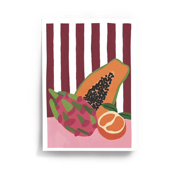 Affiche Fruit Lover, signée Taxi Brousse
