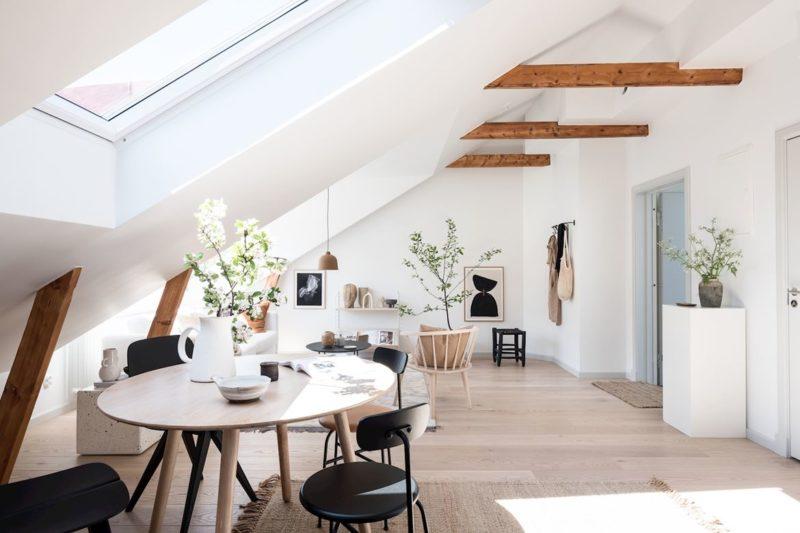 Un appartement sous les combles à l'ambiance scandinave actuelle