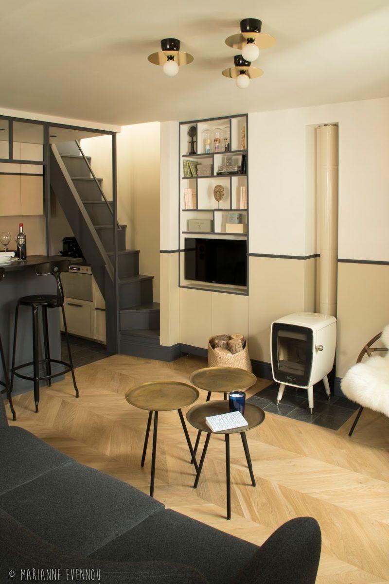 Un adorable appartement, sous les toits de Paris par l'architecte Marianne Evennou