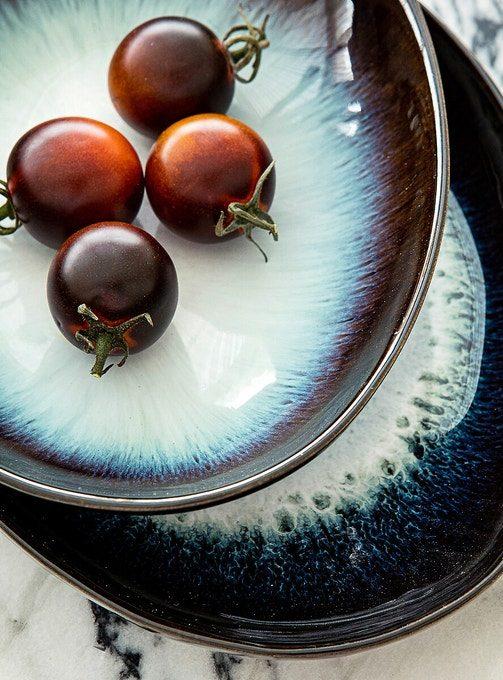 Nouvelle collection Automne Hiver 2020, Am.Pm // Assiettes plates en grès, Mytili - 55 € le lot de 4