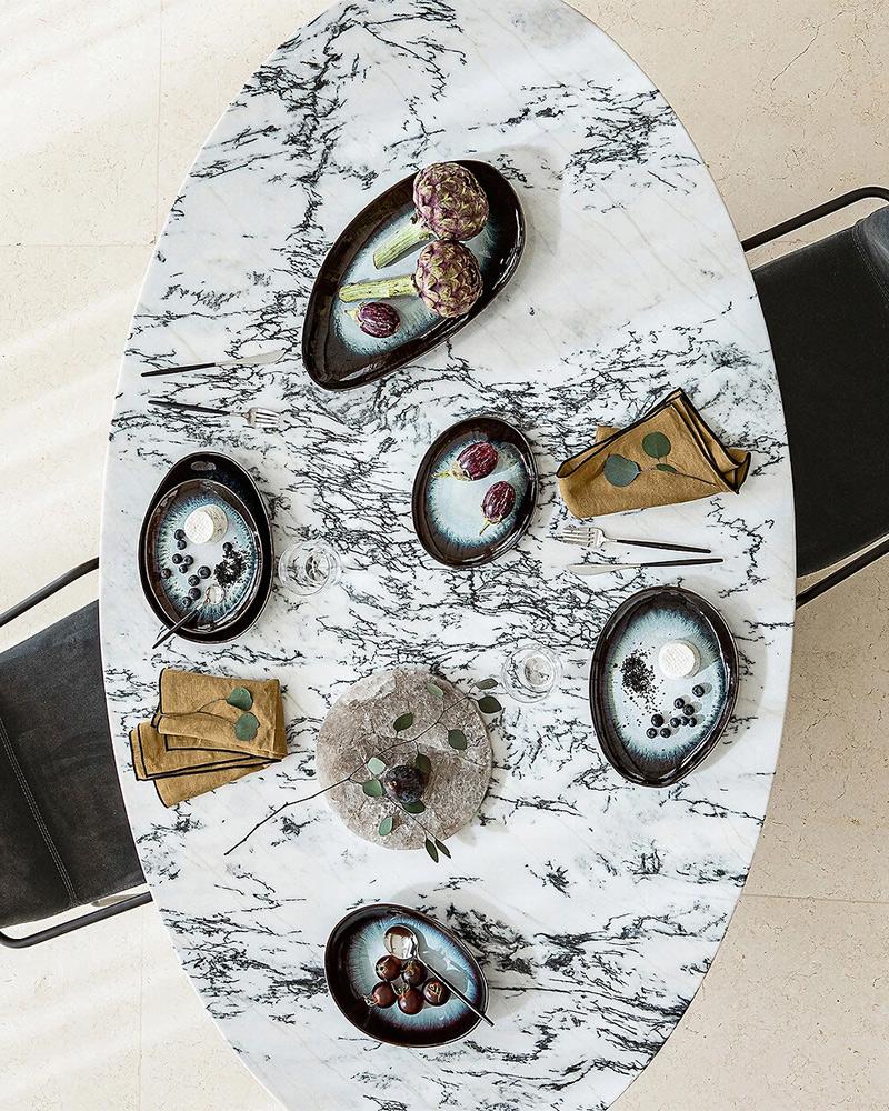 Nouvelle collection Automne Hiver 2020, Am.Pm // Table de repas en marbre, Isé, design :E.Gallina- 1699 €