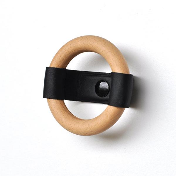Bouton de meuble en cuir et bois, EquinoxStudioDesign, à partir de 13,41 €.
