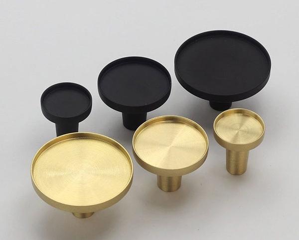 Gamme de poignées en laiton, avec la possibilité d'ajouter un insert,GoldTealandGreen, à partir de 5,99 €