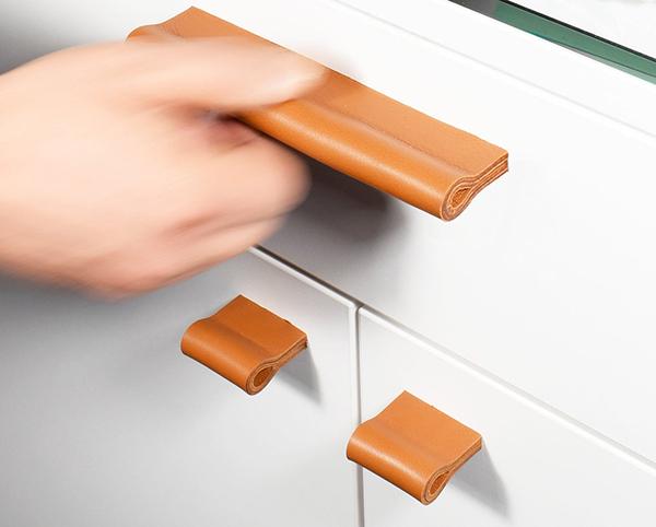 Poignées de meubles en cuir, minimaro, à partir de 19,90 €.