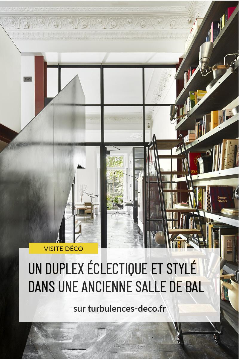 Un duplex au décor éclectique et stylé dans une ancienne salle de bal à Londres à retrouver sur Turbulences Déco