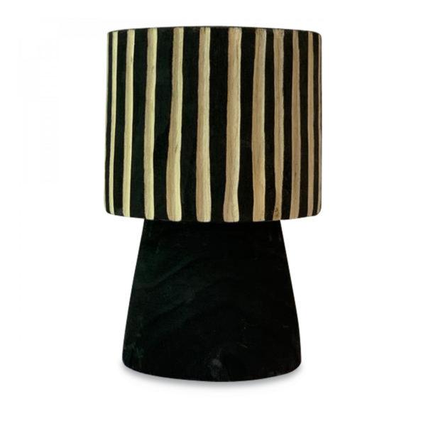 Vase à rayure en bois Noir - Smallable Home