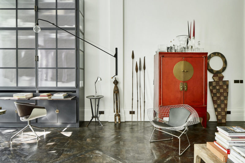 Un duplex au décor éclectique et stylé dans une ancienne salle de bal à Londres