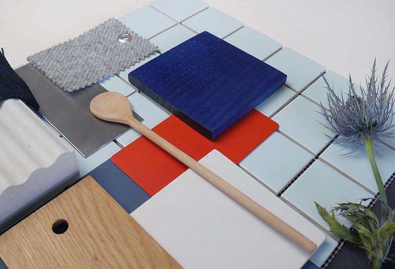 Des pistes pour créer un material board ou palette de matériaux à retrouver sur Turbulences Déco