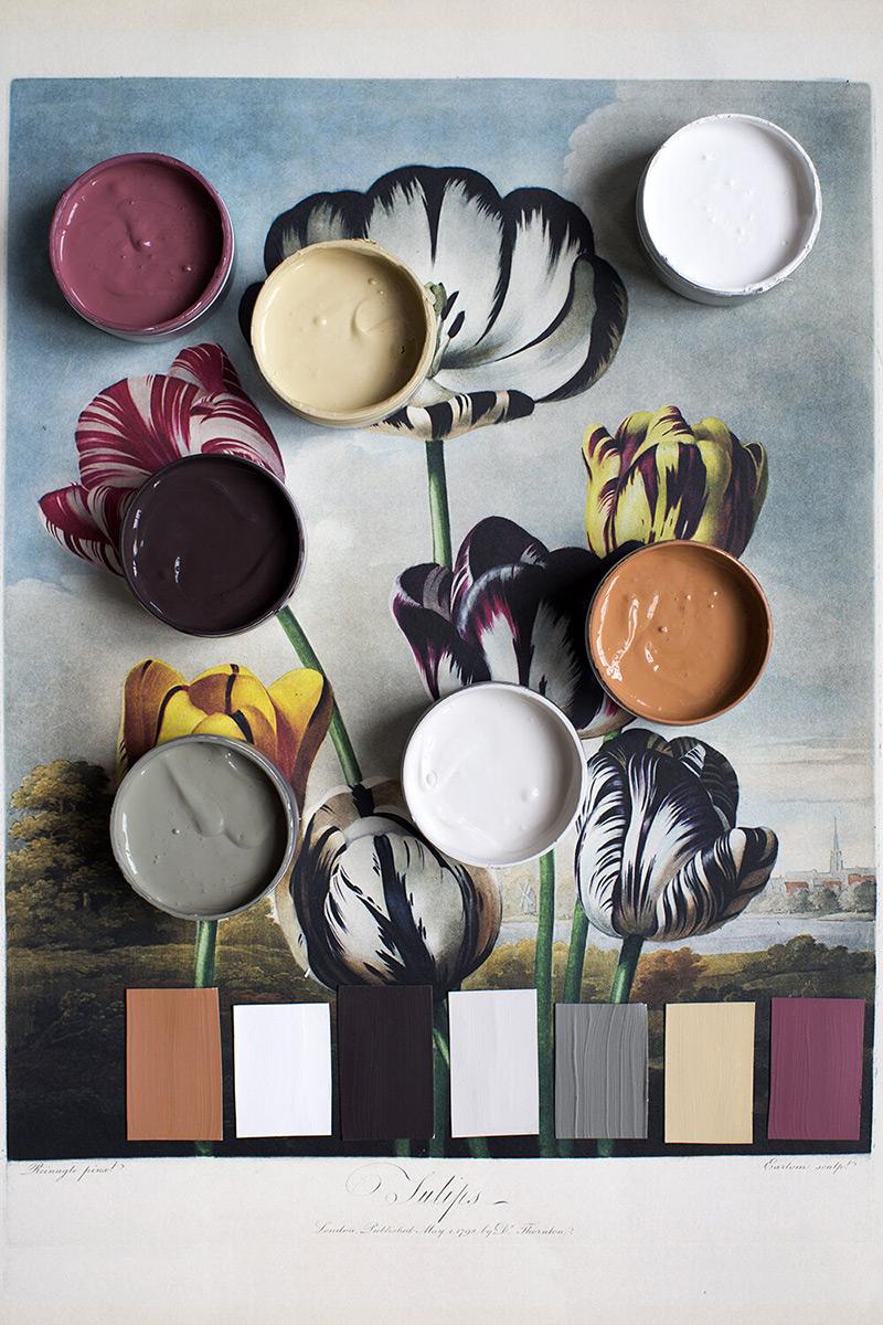 """Les peintures de l'Atelier Ellis - Palette de couleur """"Joie"""""""