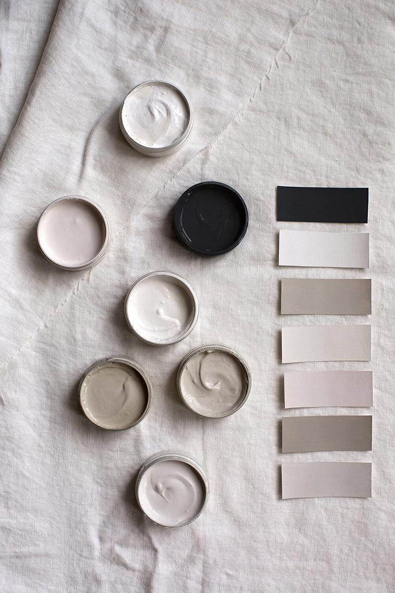 """Les peintures de l'Atelier Ellis - Palette de couleur """"Toile"""""""