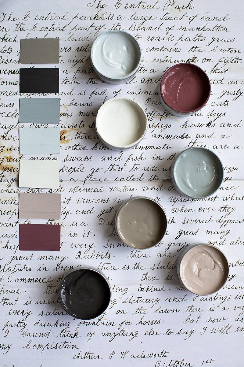 """Les peintures de l'Atelier Ellis - Palette de couleur """"Voyage avec Ada"""""""