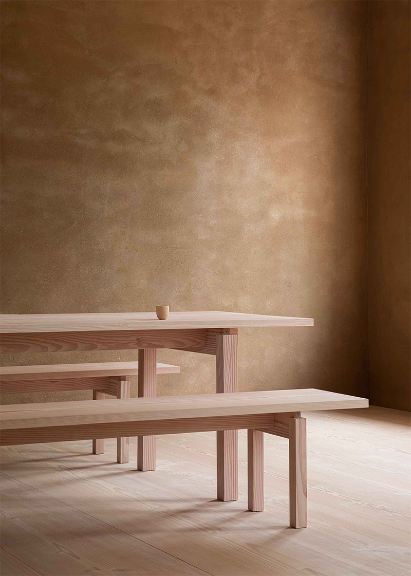 Collection Dinesen - 2020 / Table DS001 et banc DS101