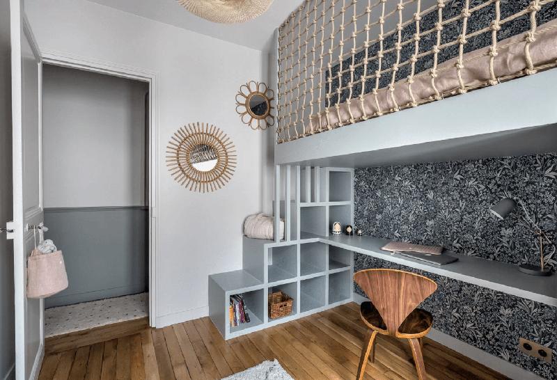 Architecte d'intérieur : Rencontre un archi - Projet Chartres // Lit en mezzanine d'enfant, protégé par un filet d'habitation
