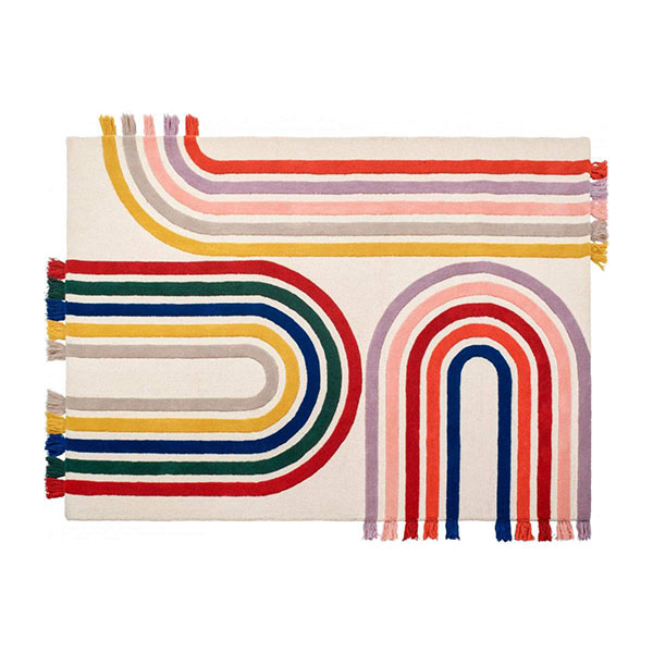 Tapis tissé en laine, design : Floriane Jacques chez Habitat