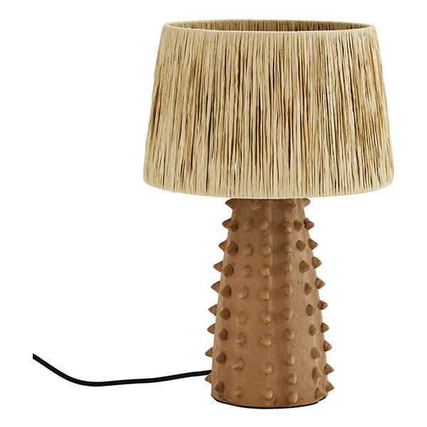 Lampe artisanale en terre cuite et raphia - Madam Stoltz