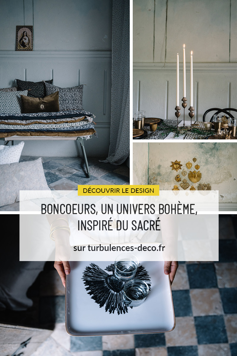 Boncoeurs, un univers bohème, inspiré du sacré à retrouver sur Turbulences Déco