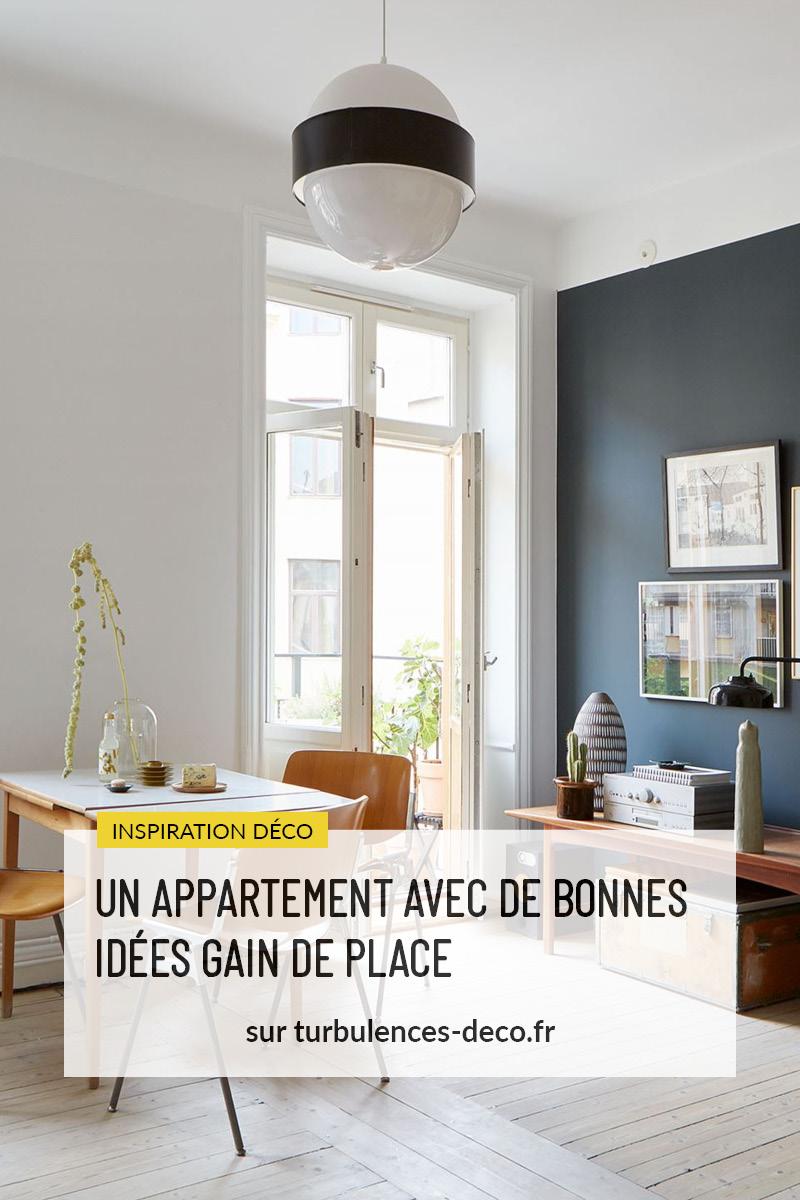 Un appartement avec de bonnes idées gain de place à retrouver sur Turbulences Déco