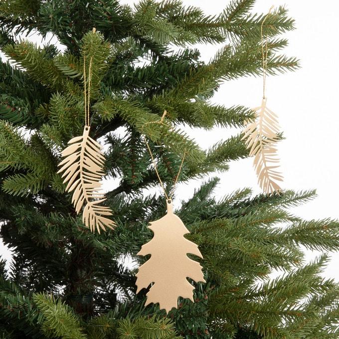 Boules de Noël feuille métal Leafo - Ampm
