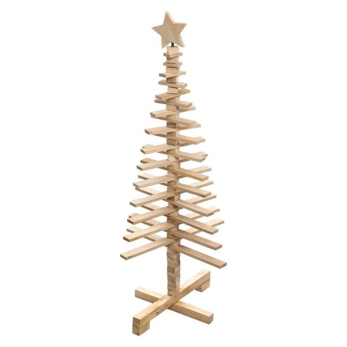 Sapin de Noël en bois articulé Lodge - Atmosphera