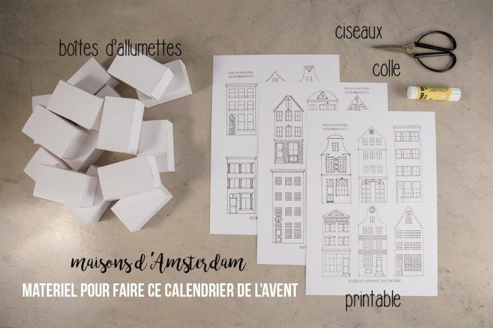 Calendrier de l'avent DIY - Petites maisons en papier - Création de @befrenchie à télécharger sur son site