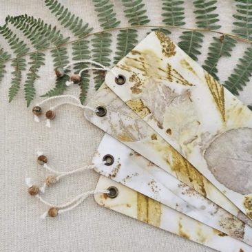 Marque-pages empreintes végétales - Boutique Etsy Antidote Floral