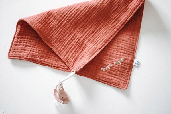 Doudou lange en gaze de coton - Boutique Etsy Baby by Tookoo