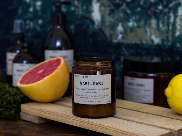 Bougie cire de soja NO.1 : Kôchi - Boutique Etsy Bougies Wabi Sabi