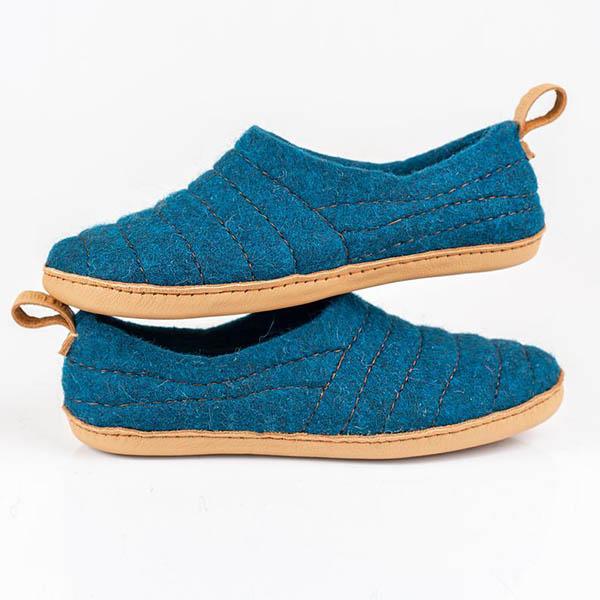 Pantoufles en laine feutré - Boutique Etsy Bure Bure Slippers