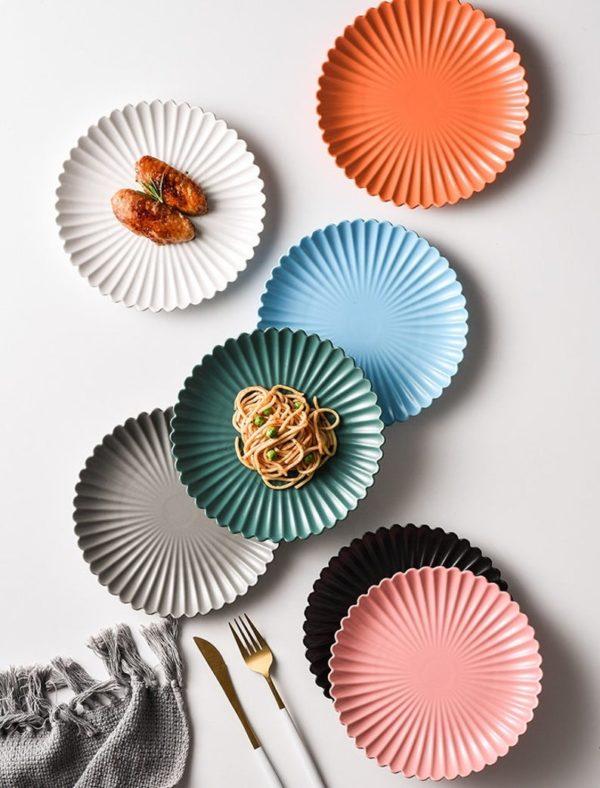 Assiette festonnée en céramique mate - Boutique Etsy Date Plate store
