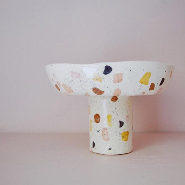 Plat de présentation en céramique - Boutique Etsy Dobrunia Design