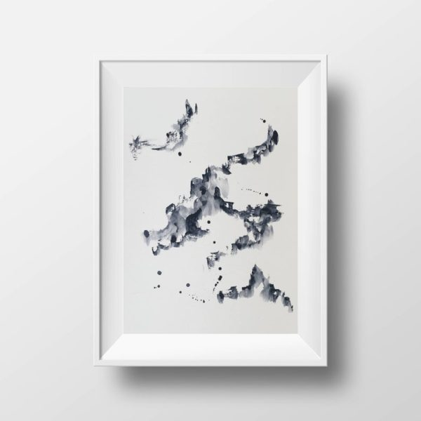 Aquarelle art abstrait 02 - Boutique Etsy Iya Gallery