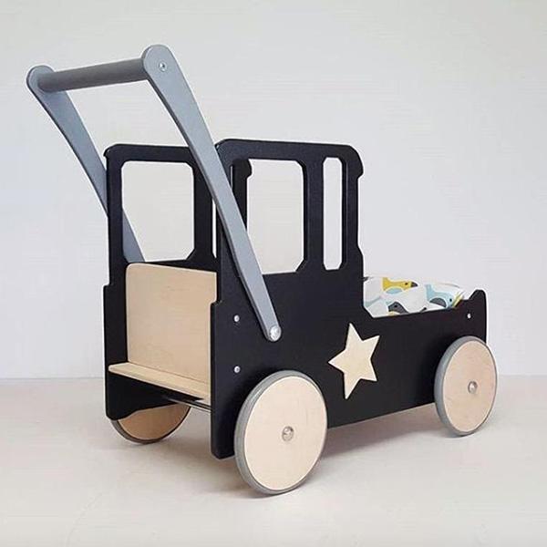 Charriot en bois, voiture sur la boitique Etsy Kidoo Crafts
