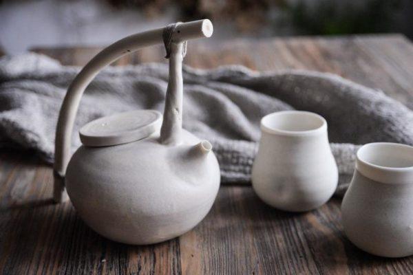 Ensemble théière et 2 tasses en porcelaine mat - Boutique Etsy Laima Ceramics