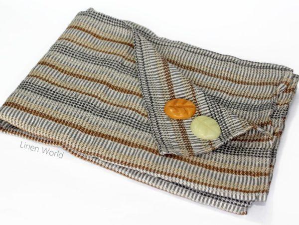 Serviette de bain gaufré en lin et coton - Boutique Etsy Linen World