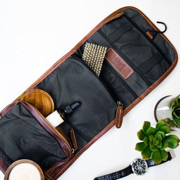 Trousse de toilette en cuir - Boutique Etsy MAHI Leather